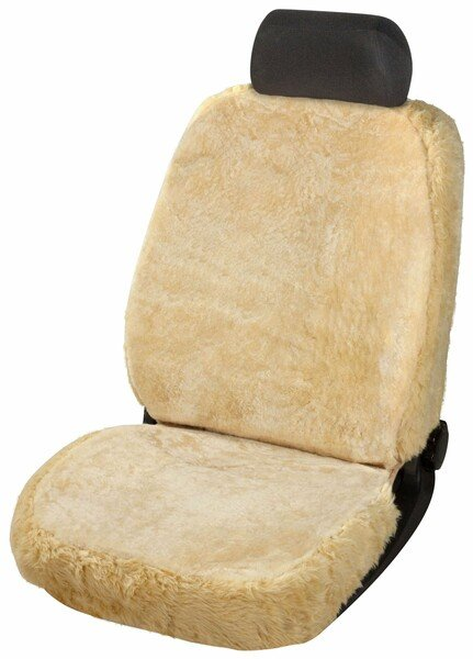 Car Seat cover Monette made of lambskin beige with ZIPP IT System