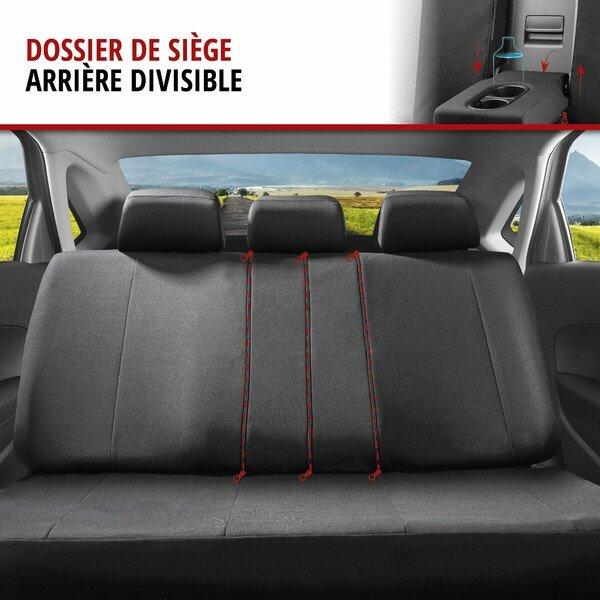 ZIPP IT Premium Housse de sièges Avignon complet avec système de fermeture éclair noir/bleu