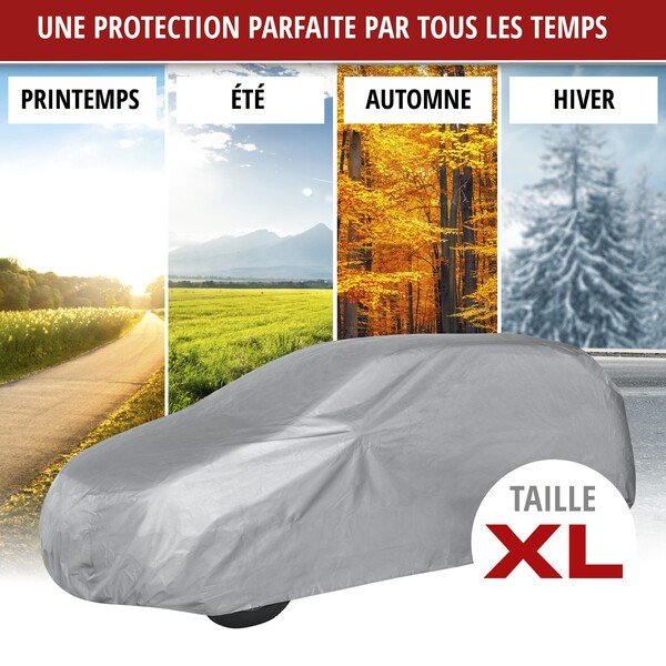 Bâche pour voiture All Weather Light taille du garage complet XL gris clair