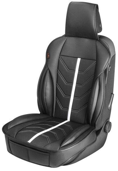 PKW Sitzauflage Kimi schwarz weiß