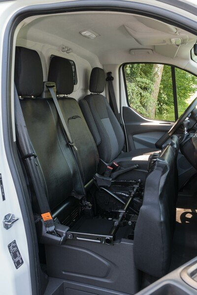 Car Seat covers for Ford Transit double bench in front made of imitation leather from year of construction 05/2014 - today