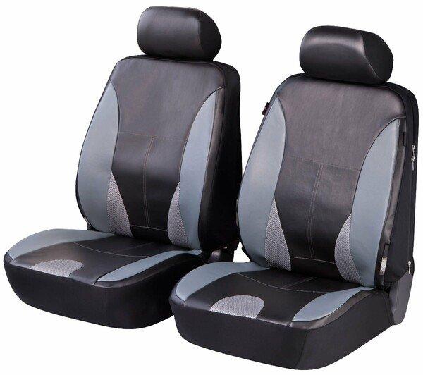 ZIPP IT Deluxe Sporting Autositzbezüge aus Kunstleder für zwei Vordersitze mit Reissverschluss System