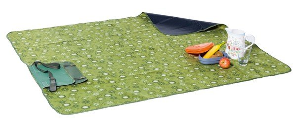 Travelling rug picnic blanket Olivia green 125x134cm