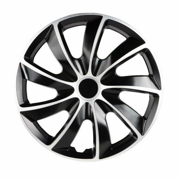 """Wheel covers Aero Bicolor 16"""", 4 piece black/silver"""