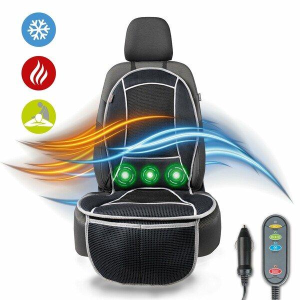sedile riscaldamento Coprisedili Coprisedili auto Cool Heat con massaggio nero