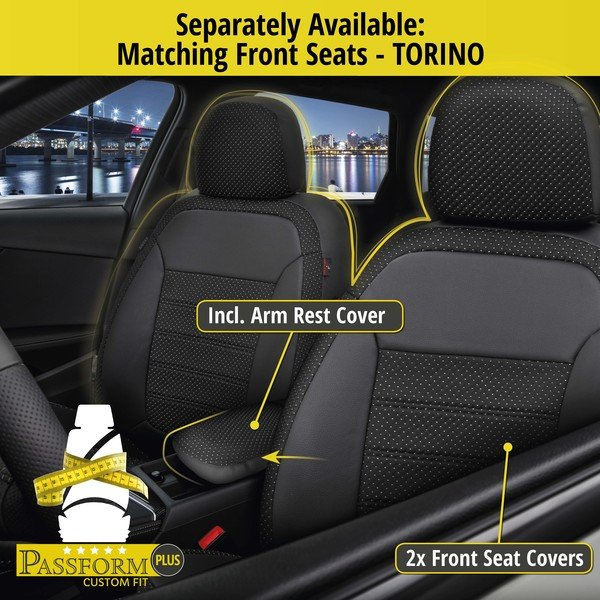 Seat cover 'Torino' for Fiat 500L year of construction 2013 until today - 1 rear Seat cover for normal seats