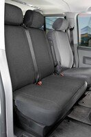 Car Seat covers for VW T5 double bench front in fabric Year of construction 04/2003 - 08/2009