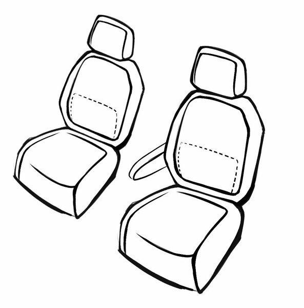 Housse de siège Aversa pour VW Golf Sportsvan (AM1, AN1) 02/2014- auj., 2 housses de siège pour sièges sport