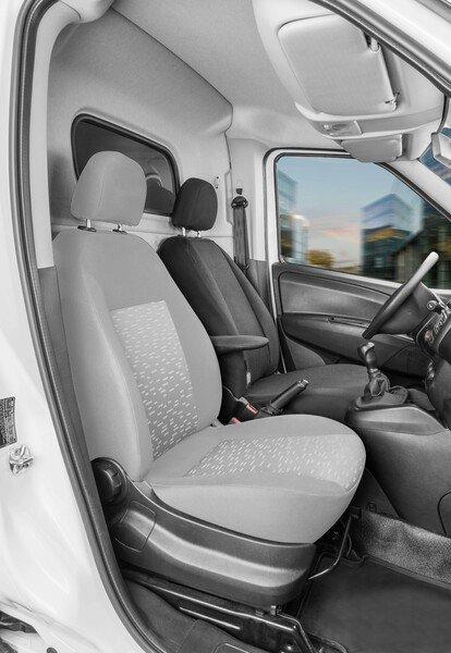 Housse de siège Transporter en tissu pour Opel Combo D, siège conducteur unique