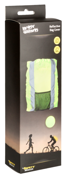 Reflective backpack cover yellow 30L