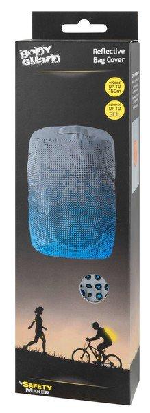 Reflective bag cover silver-blue reflective