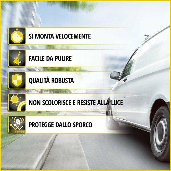 Transporter Coprisedili in tessuto per Mercedes Vito/Viano, 2 posti singoli - senza airbag