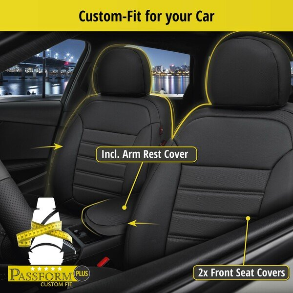 Seat cover Robusto for Hyundai Tucson (TL, TLE) year 05/2015-Today, 2 seat covers for normal seats