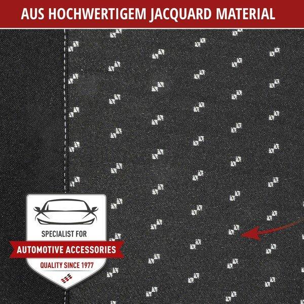Autositzbezug DotSpot grau schwarz Premium für zwei Vordersitze