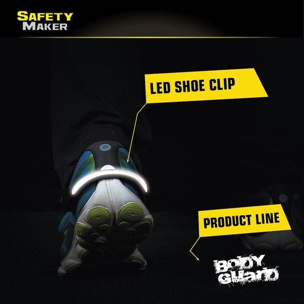 LED shoe clip white