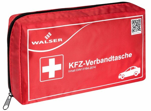KFZ first aid kit red according to DIN 13164
