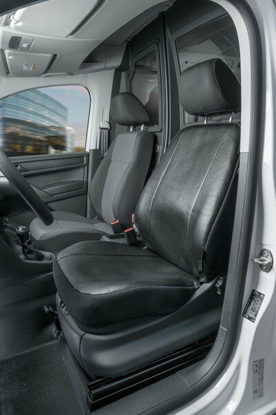 Car Seat covers for VW Caddy single front seat made of imitation leather from year 02/2004 - today
