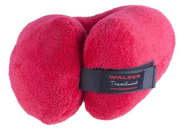 Oreiller de voyage Travelmaid bolster pour adultes en molleton doux rouge cerise