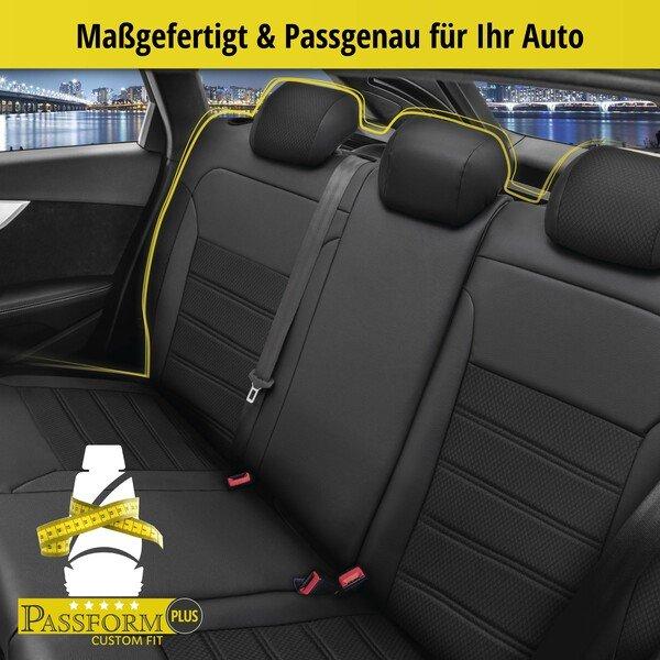 Passform Sitzbezug Aversa für Renault Captur I (J5, H5) Baujahr 06/2013-Heute, 1 Rücksitzbankbezug für Normalsitze