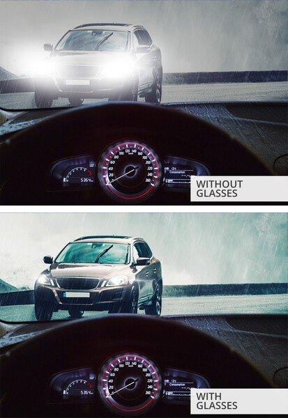 Night driving goggles black