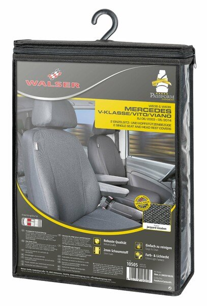 Car Seat covers for Mercedes-Benz Vito and Viano (W639) 2 single seats Armrest inside