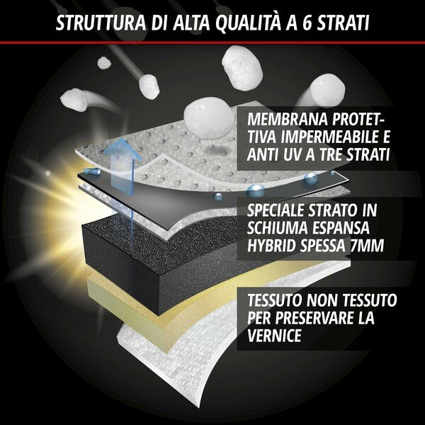 Auto protezione antigrandine ibrida UV Protect taglia XL
