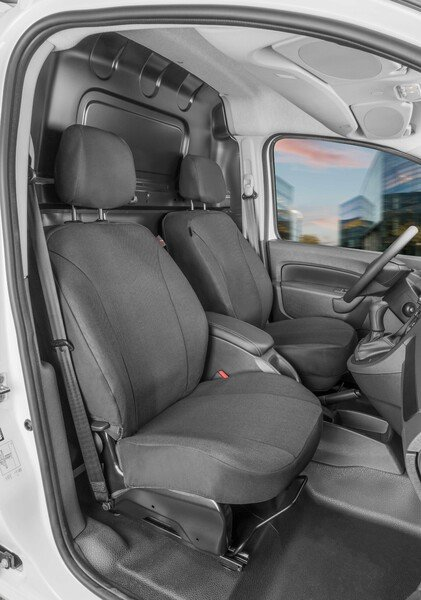 Car Seat cover Transporter made of fabric for Mercedes-Benz Citan W415, 2 single seats front