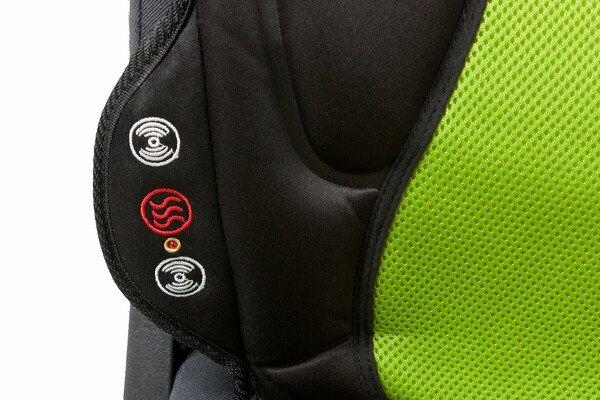 Autositz Heizkissen Sitzheizung Lounge schwarz grün mit Massagefunktion