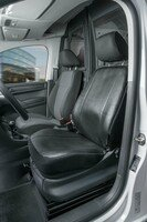 Transporter Seat covers made of imitation leather for VW Caddy, single front seat