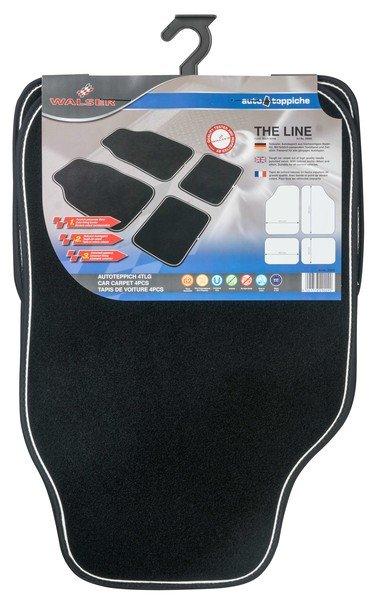Car carpet The Line black / white