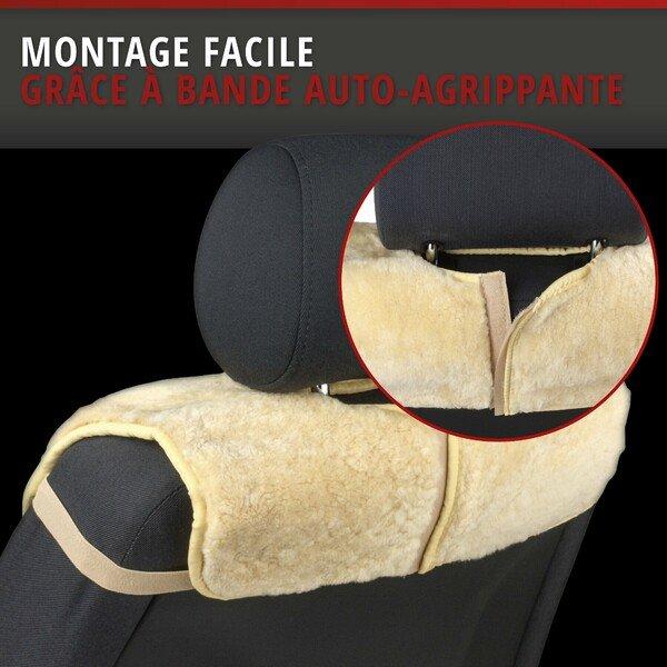 Housses de sièges en agneau Vogue beige 16-18mm hauteur de fourrure