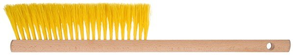 Snow brush Woody with wooden handle yellow