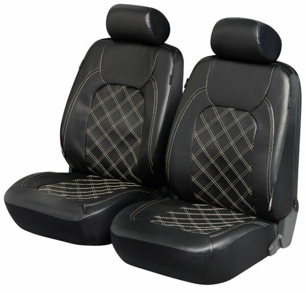 ZIPP IT Deluxe Paddington car Seat covers in imitation leather for two front seats with zipper system