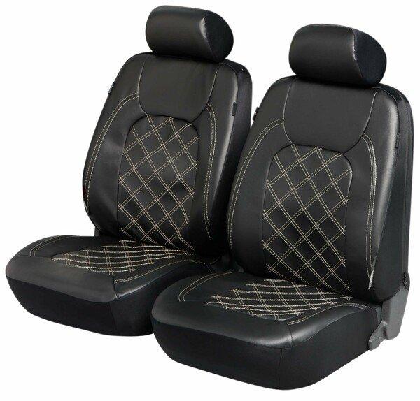 ZIPP IT Deluxe Paddington - Housses de sièges en simili cuir pour deux sièges avant avec système de fermeture éclair