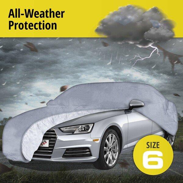 Car tarpaulin All Weather Premium size 6 grey