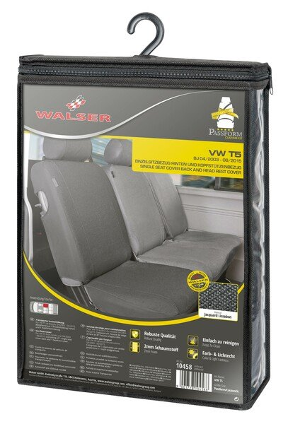 Transporter Seat covers made of polyester for VW T5, single back seat