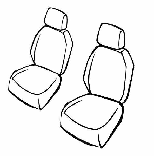 Housse de siège Transporter en tissu pour Mercedes Vito/Viano, 2 sièges simples - sans airbag