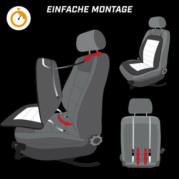 Massagesitzauflage Laxly, universal Sitzauflage mit Massage- und Wärmefunktion