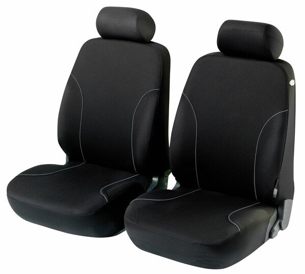 ZIPP-IT Basic Allessandro black Car Seat covers for two front seats with zipper system