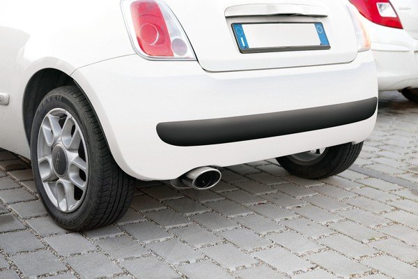 Universal exhaust cover for Fiat Panda and Fiat 500 TS-500