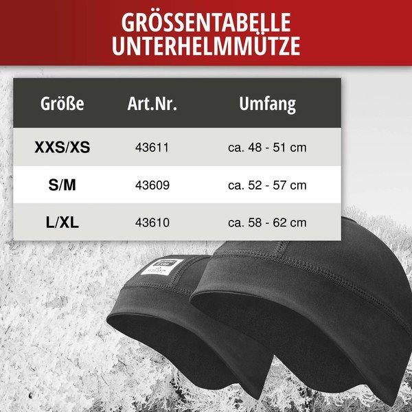 Skihelm Untermütze L/XL Gr. 58-62