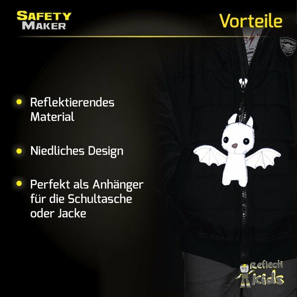 Safety Maker Soft Anhänger Batty silber reflektierend
