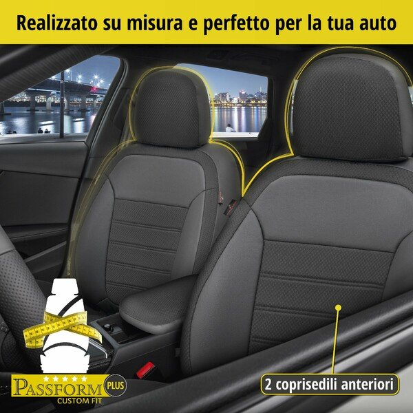 Coprisedili Aversa per Dacia Duster (HS) 04/2010-01/2018, 2 Coprisedili per sedili normali