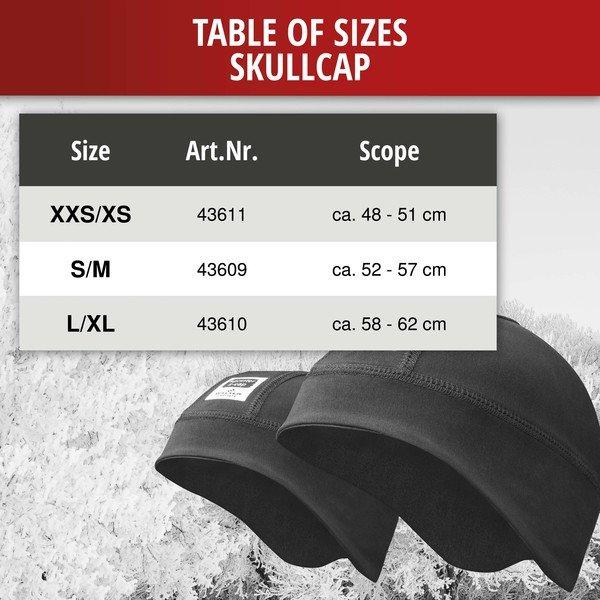 Ski helmet undercap XXS/XS size 48-51