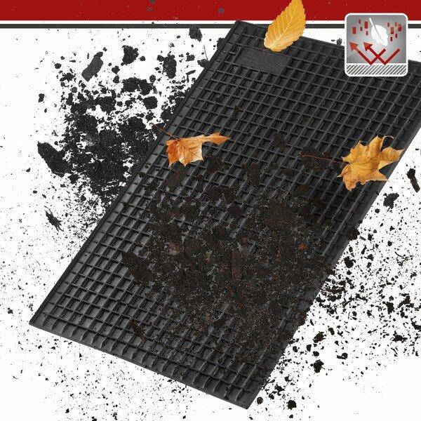 Gummimatte Rechteck ca. 41x28 cm schwarz