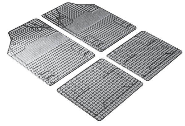 Rubber mats New Style white black, cut to size