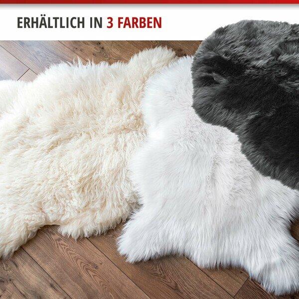 Lammfell Teppich Sitzauflage Beal schwarz 100-105 cm lang