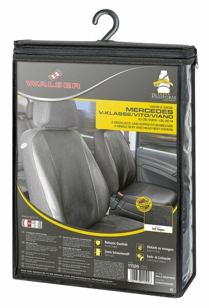 Car Seat covers for Mercedes-Benz Vito and Viano (W639) 2 single seats artificial leather soft