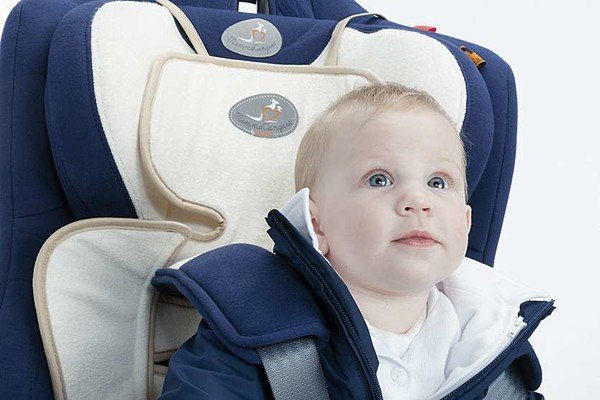 Children's car Seat cover Soffio white bamboo