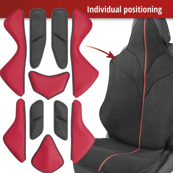 Car Seat cover X-Race black red